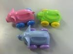 B003: Elephant/Turtle/Pig Push Toys