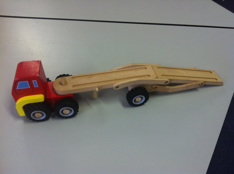 A061: Car Carrier Truck, Wooden