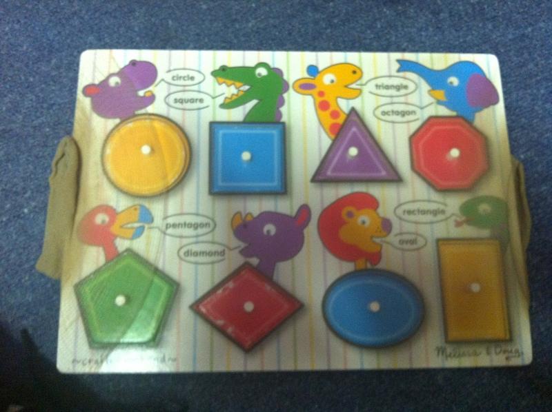 P010: Shapes Peg Puzzle