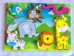 83033: Wooden Animal Safari Puzzle