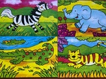 83072: 4 in 1 Animal Puzzle