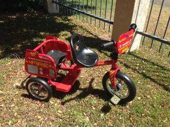 70313: Fire Engine Tandem Trike GOLD STAR