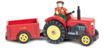 62329: Wooden Red Tractor