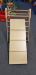 1978: Wooden climbing Ladder with slide