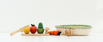 RPL007: Wooden Fruit and Vegetable Chopping Board & Basket
