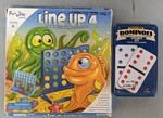 I46: Dominoes & Line up 4 game