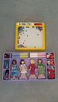I061: Magnetic Wooden Dressup Dolls & Marble tick game