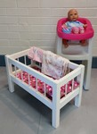 L175: High Chair and Doll Set with cot