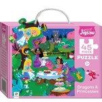 P137: Dragons & Princesses Puzzel - 45 pieces