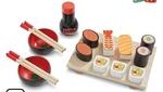 I195: Wooden sushi set