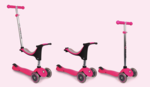 A4: EVO 4 in 1 scooter Pink