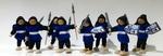 I17: Knight dolls - Blue