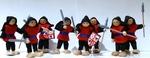 I23: Knight dolls - Red