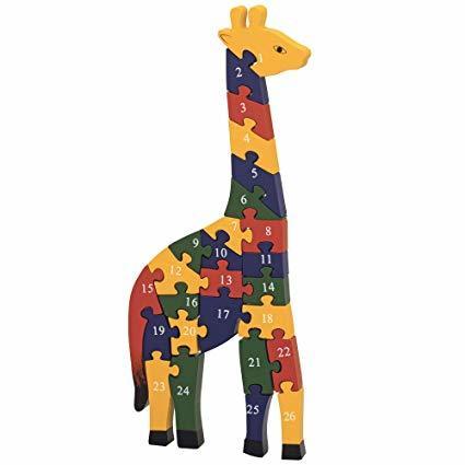 77: Wooden Giraffe Shape Puzzle