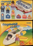 340: Playmobil 1.2.3 Airplane and Shuttlebus